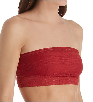 Free People Scalloped Lace Trim Bandeau Bra