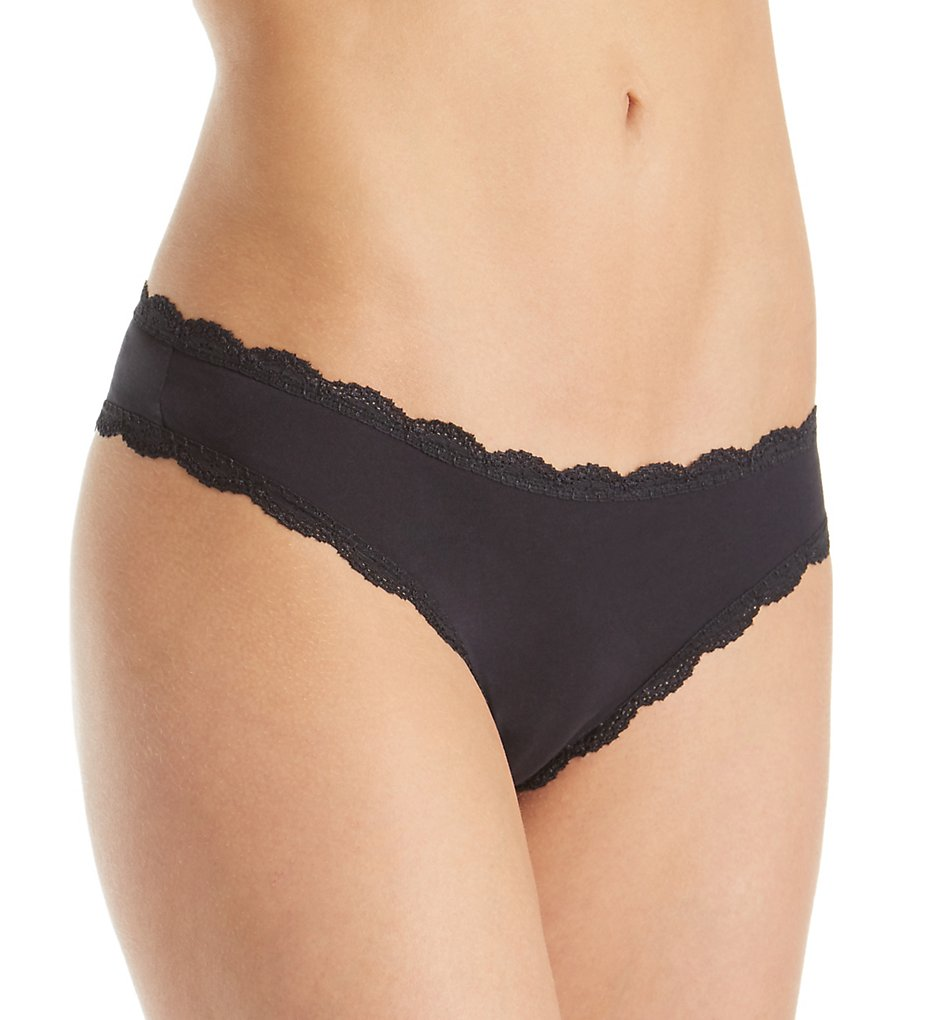 Free People 617641 Cotton Lace Trim Tanga Panty