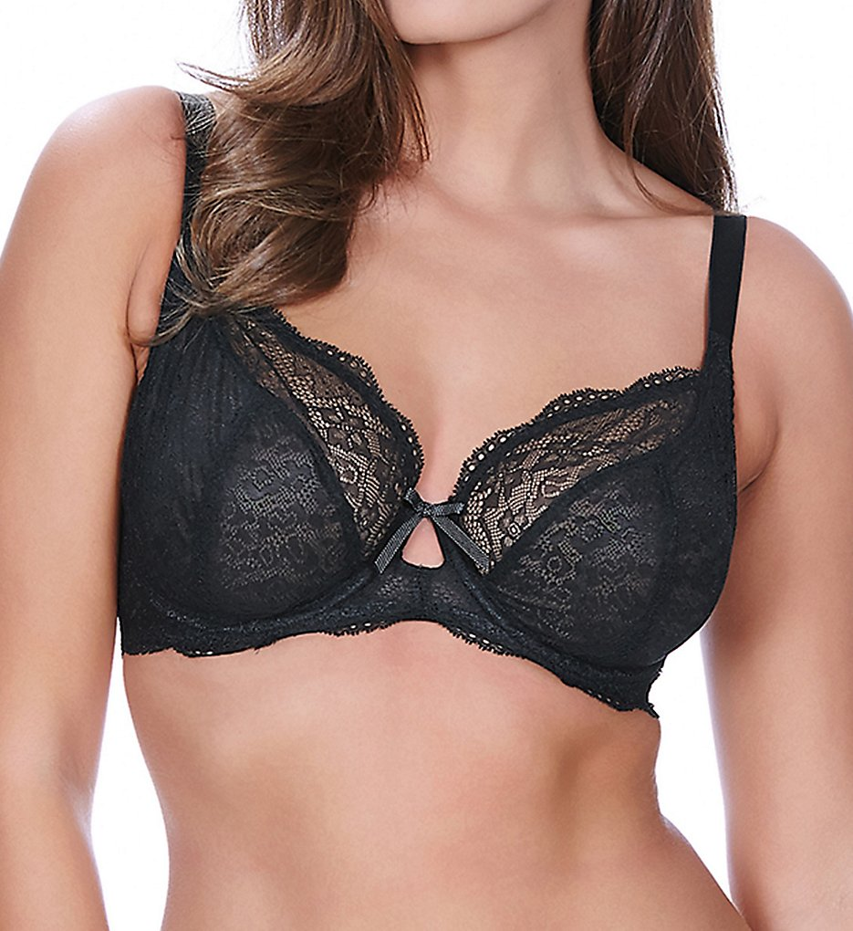 Freya >> Freya AA1011 Fancies Underwire Plunge Bra (Black 28D)