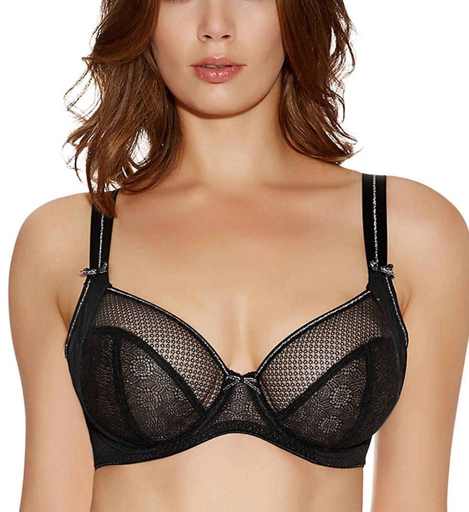 Freya >> Freya AA1841 Hero Underwire Side Support Plunge Bra (Black 28D)