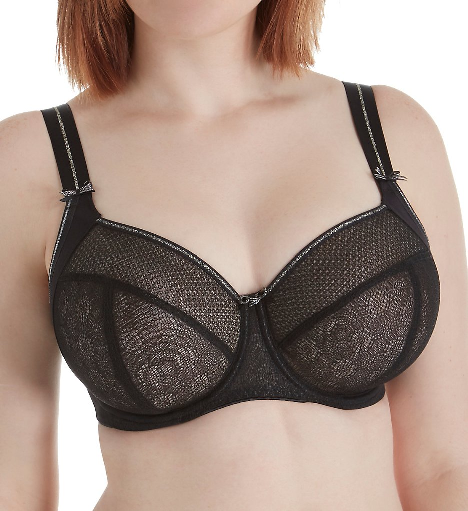 Freya >> Freya AA1842 Hero Underwire Side Support Balcony Bra (Black 28GG)