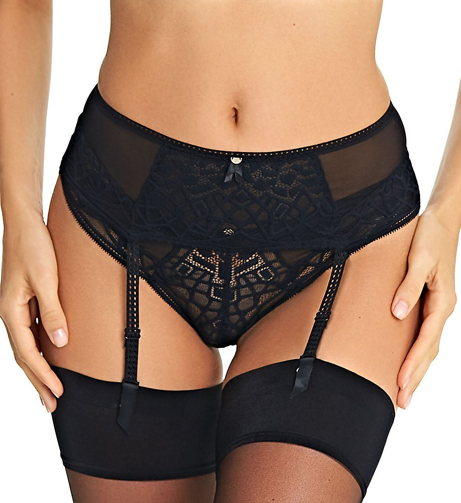 Freya >> Freya AA5019 Soiree Lace Suspender Belt (Black L)