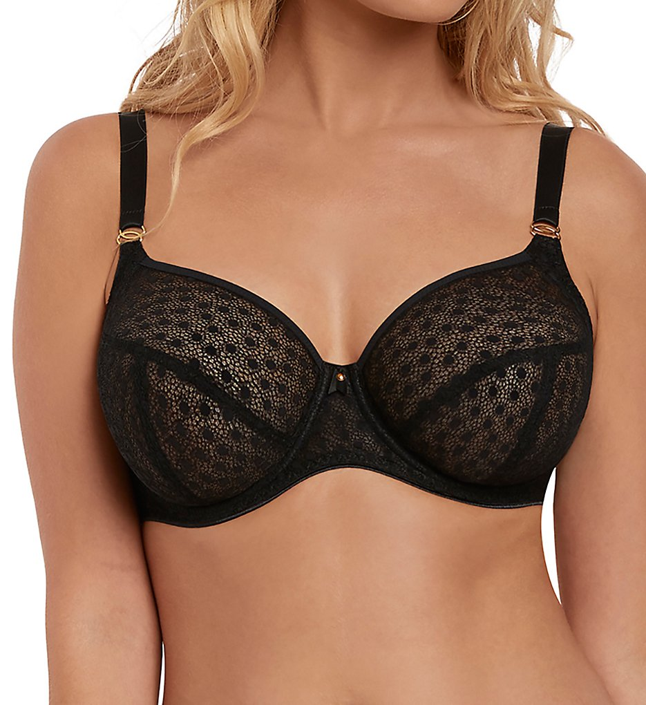 Freya >> Freya AA5201 Starlight Underwire Hero Balcony Side Support Bra (Black 28D)