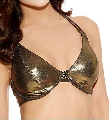 Freya Gold Rush Underwire Bandless Halter Swim Top