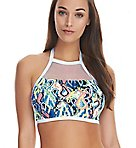 Evolve Underwire High Neck Crop Swim Top