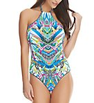 Tropicool Underwire High Neck One Piece Swimsuit