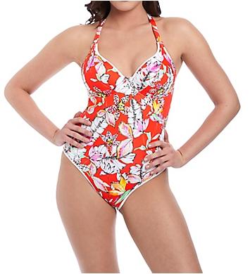 Freya Wild Flower Underwire Plunge One Piece Swimsuit