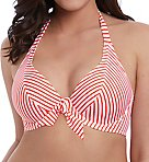 Totally Stripe Underwire Halter Bikini Swim Top