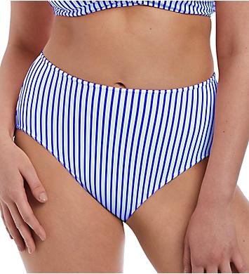 Freya Totally Stripe High Waist Brief Swim Bottom