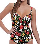 Tiki Bar Underwire Plunge Tankini Swim Top