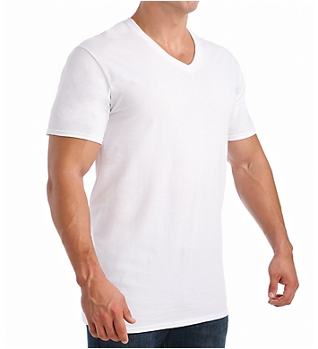 Fruit Of The Loom Tall Man's 100% Cotton V-Neck T-Shirts - 3 Pack