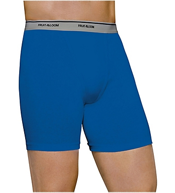 Fruit Of The Loom Core 100% Cotton Assort Boxer Briefs - 3 Pack
