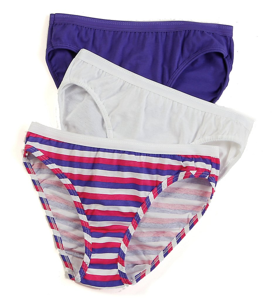 Fruit Of The Loom - Fruit Of The Loom 3DBIKAS Cotton Bikini Panty - 3 Pack (Assorted 5)