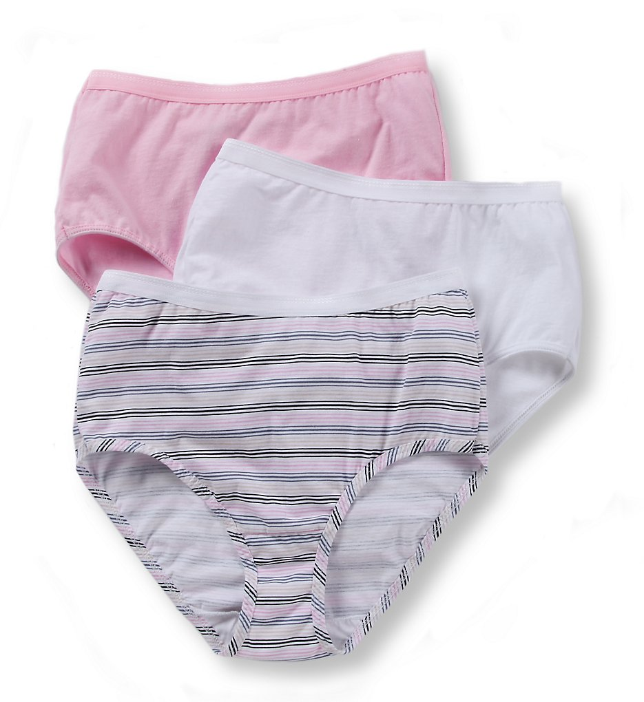 Fruit Of The Loom - Fruit Of The Loom 3DBRIAS Cotton Brief Panties - 3 Pack (Assorted 5)