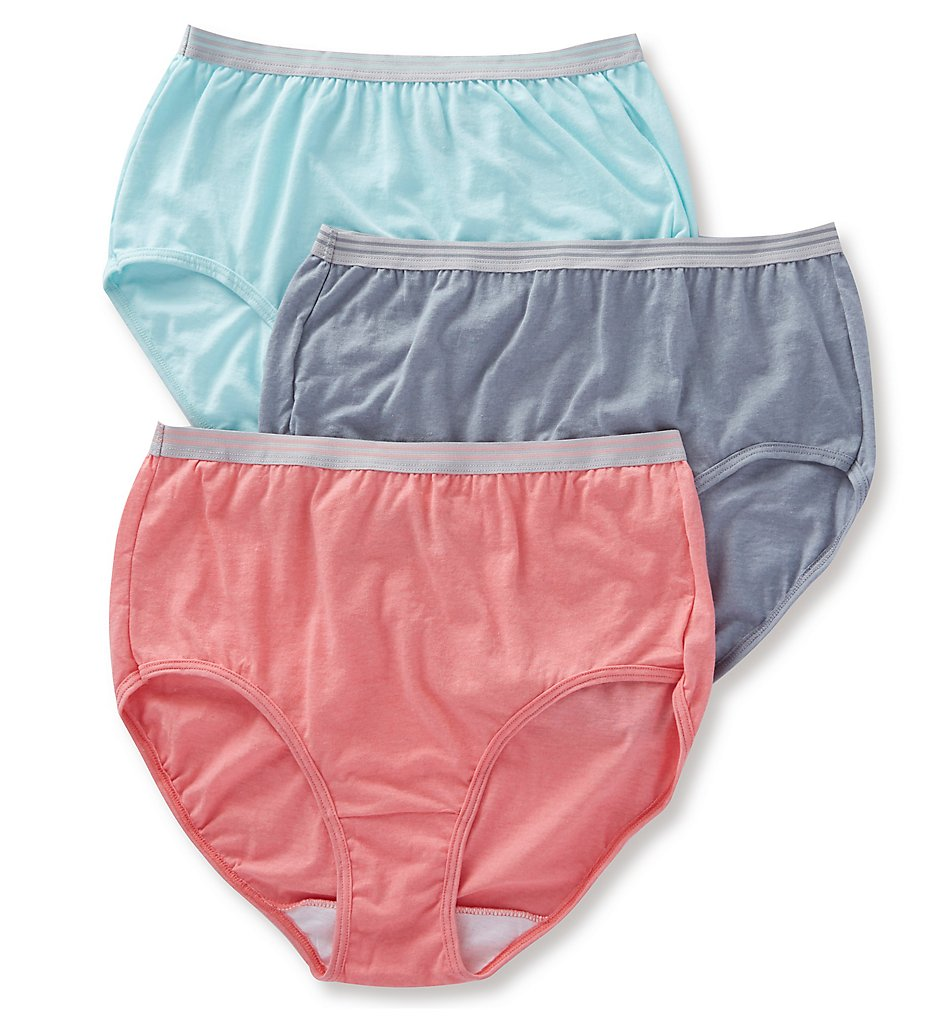 Fruit Of The Loom - Fruit Of The Loom 3DBRIHT Cotton Heather Brief Panty - 3 Pack (Assorted 7)