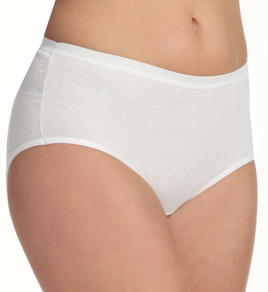Fruit Of The Loom Ladies White Cotton Brief Panties - 3 Pack