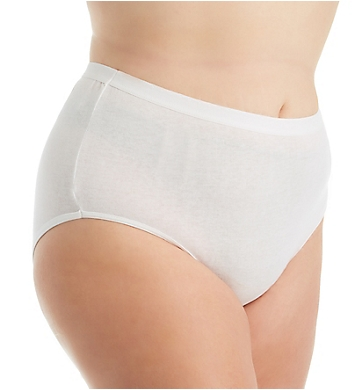 Fruit Of The Loom Fit for Me Plus Size Cotton Brief Panties - 3 Pack