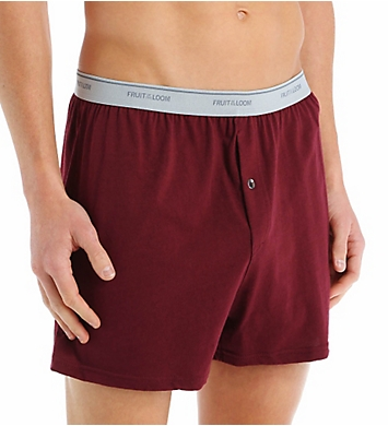 Fruit Of The Loom Mens Core Cotton Assort Knit Boxers- 3 Pack