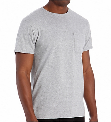 Fruit Of The Loom Men's Core Grey Pocket Tee - 4 Pack