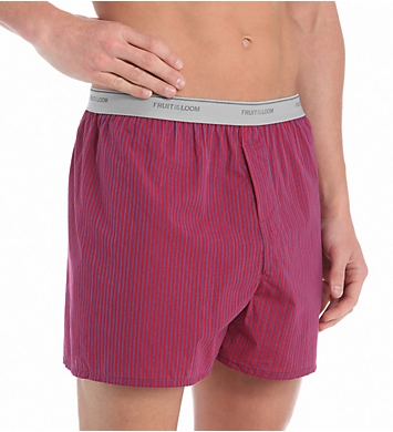 Fruit Of The Loom Extended Size Cotton Blend Woven Boxers - 4 Pack