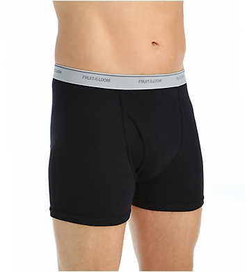 Fruit Of The Loom Extended Size Short Leg Boxer Briefs - 4 Pack