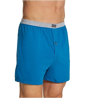 Fruit Of The Loom Men's Assorted Button Fly Knit Boxers - 3 Pack