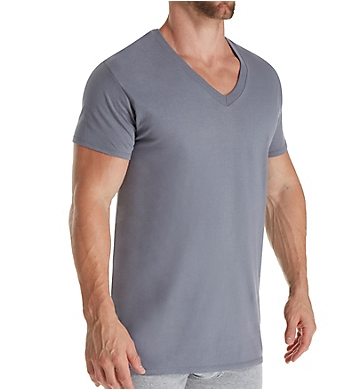 Fruit Of The Loom Stay Tucked Cotton V Neck T-Shirts - 5 Pack