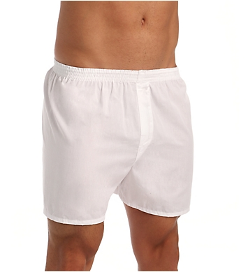 Fruit Of The Loom Big Man Solid White Woven Boxers - 5 Pack