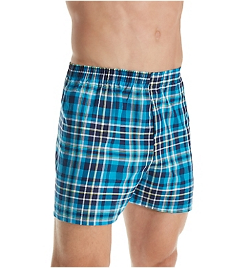 Fruit Of The Loom Men's Plaid Woven Boxers - 5 Pack
