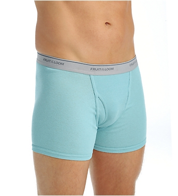 Fruit Of The Loom Assorted Cotton Short Leg Boxer Briefs - 5 Pack