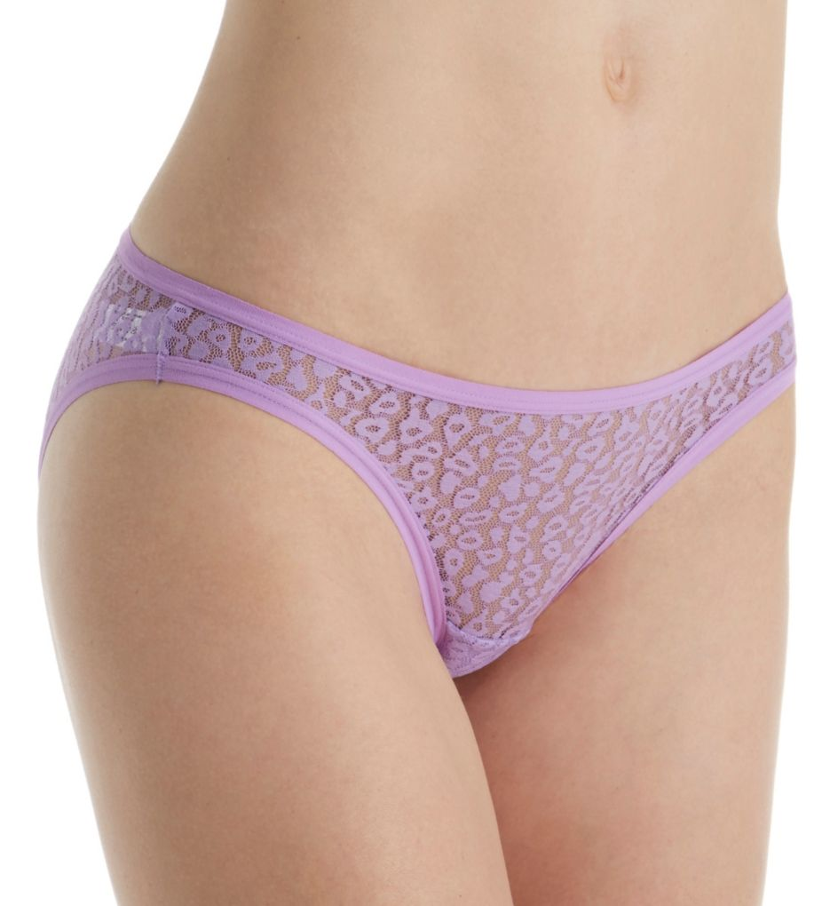 Fruit Of The Loom All Over Lace Bikini Panties - 6 Pack