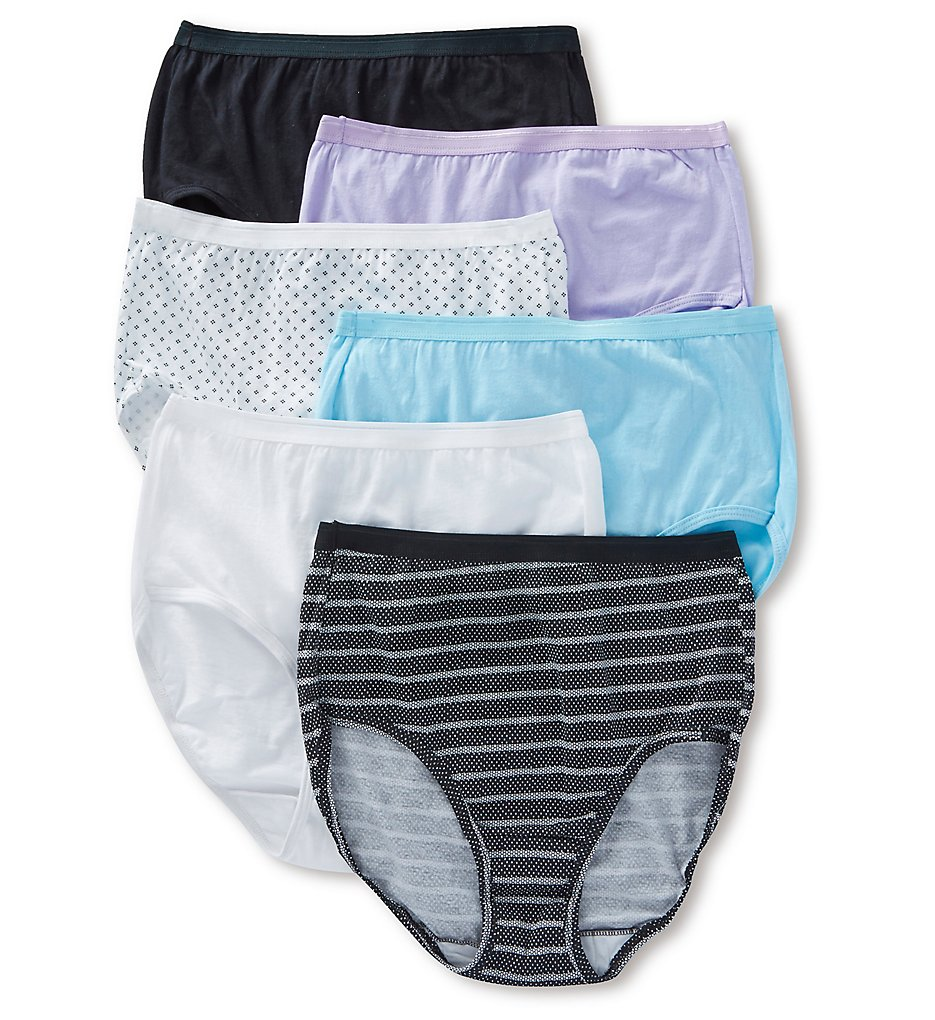 Fruit Of The Loom - Fruit Of The Loom 6DBRIA1 Cotton Brief Panty Assorted - 6 Pack (Assorted 5)
