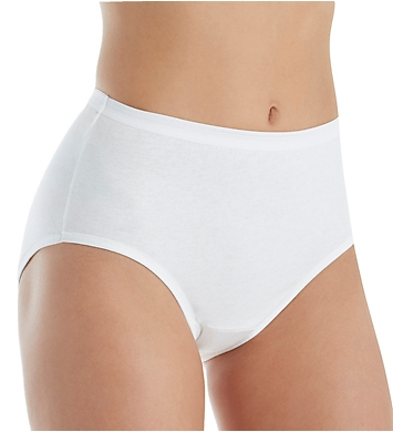 Fruit Of The Loom Cotton Brief Panty White - 6 Pack