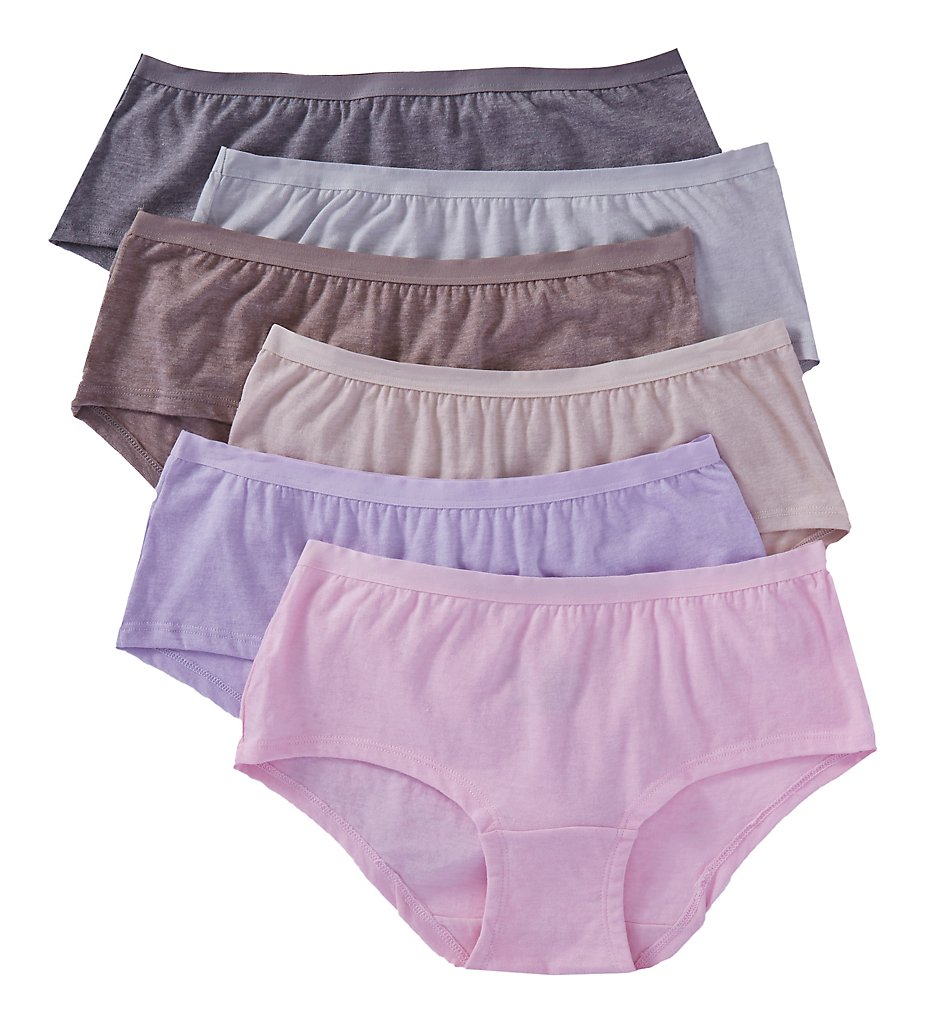 Fruit Of The Loom - Fruit Of The Loom 6DBSBS2 Beyond Soft Boyshort Panties - 6 Pack (Assorted 5)