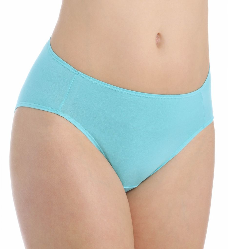 Fruit Of The Loom Cotton Stretch Hi-Cut Brief Panties - 6 Pack