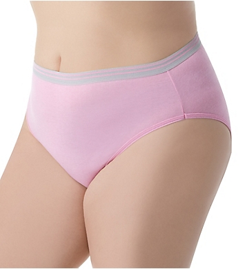Fruit Of The Loom Fit For Me Plus Heather Hi-Cut Panties - 6 Pack