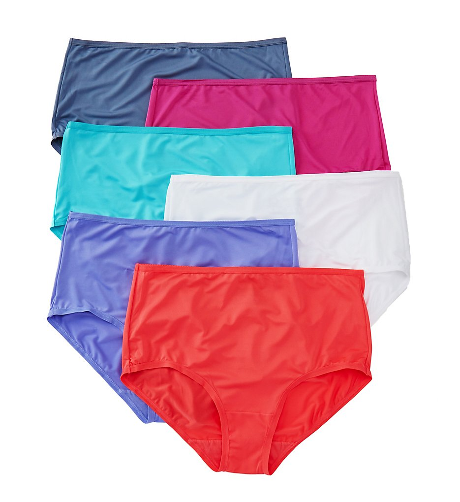 Fruit Of The Loom - Fruit Of The Loom 6DMFBF1 Microfiber Brief Panties - 6 Pack (Assorted 6)