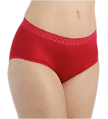 Fruit Of The Loom Nylon Brief Panties - 6 Pack