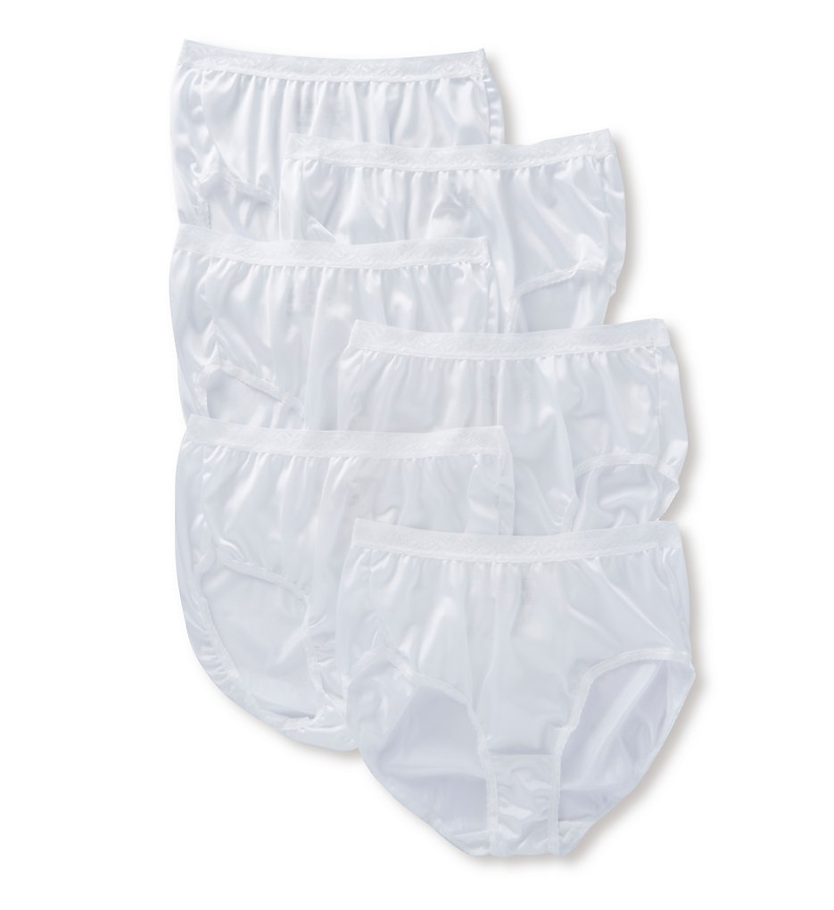 Fruit Of The Loom - Fruit Of The Loom 6DN2230 Nylon White Brief - 6 Pack (White 6)