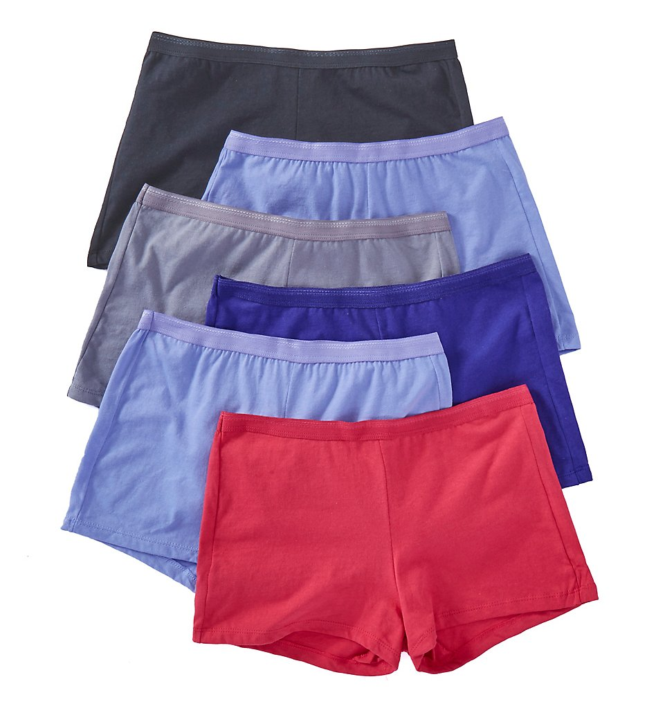 Fruit Of The Loom - Fruit Of The Loom 6DSHTA1 Cotton Shortie Panties - 6 Pack (Assorted 5)