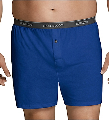 Fruit Of The Loom Big Man Assorted Knit Boxer - 6 Pack