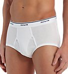 Big Man Full Cut 100% Cotton White Briefs - 7 Pack
