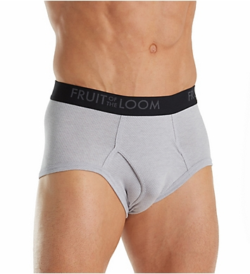 Fruit Of The Loom Breathable Black/Grey Briefs - 4 Pack