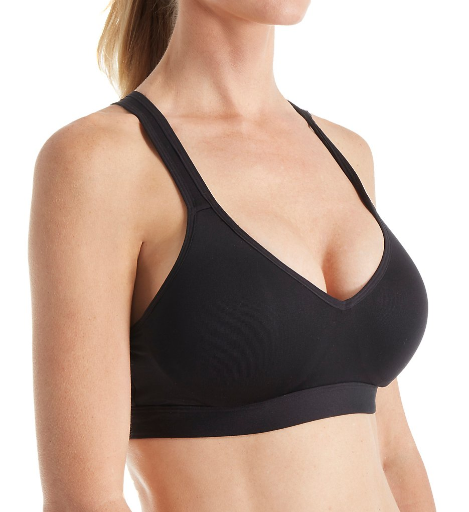 Fruit Of The Loom - Fruit Of The Loom FT344 Yoga Push Up Sports Bra (Black 34)
