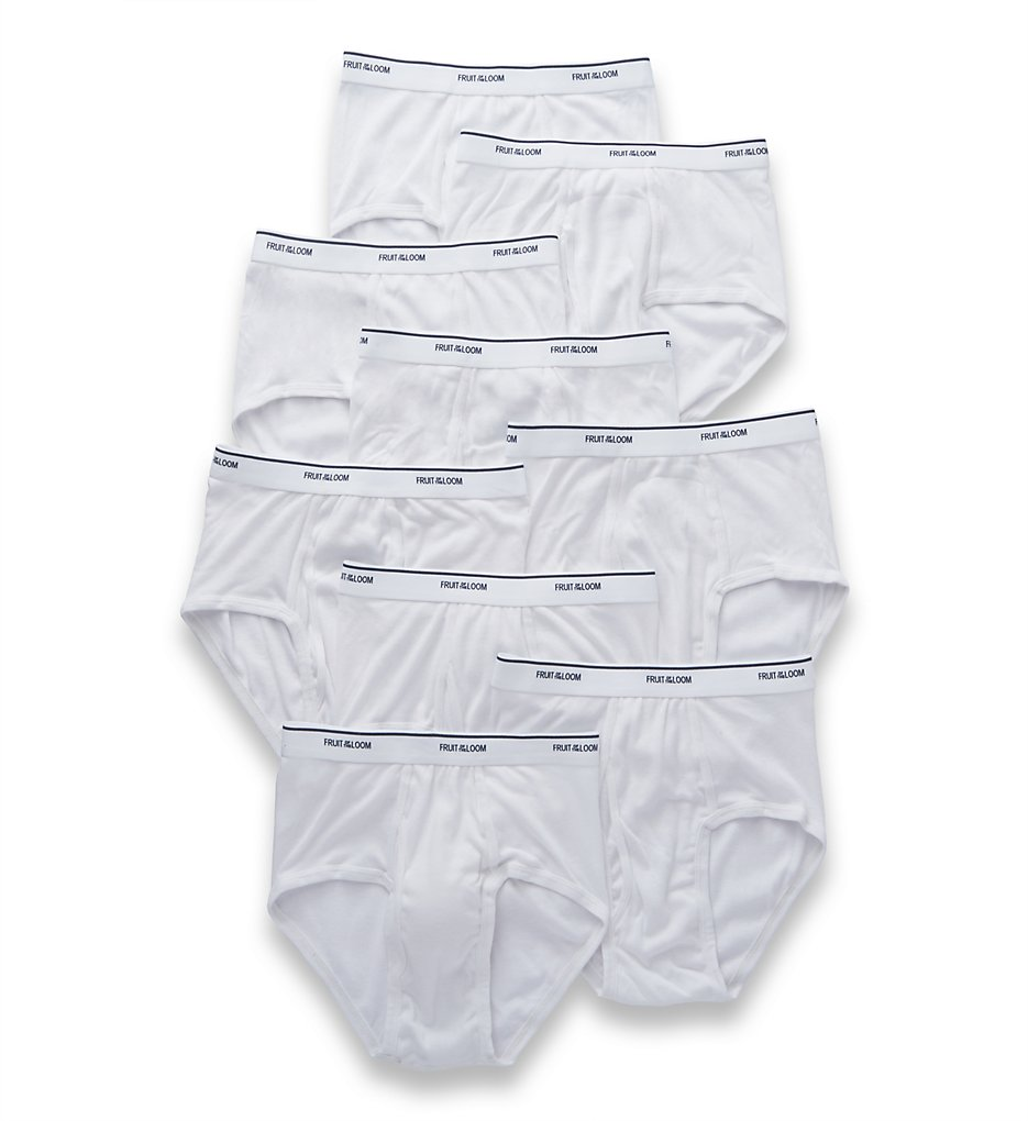 Fruit Of The Loom SV9P760 Super Value Classic White Briefs - 9 Pack (White)