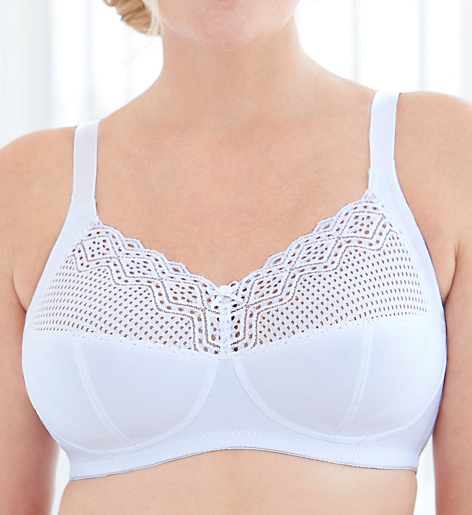 Glamorise >> Glamorise 1103 Comfort Lift Wireless Bra (White 38C)