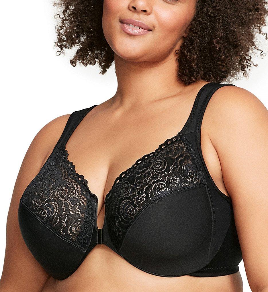Glamorise 1245 Elegance Front Close Wonderwire Bra (Black)