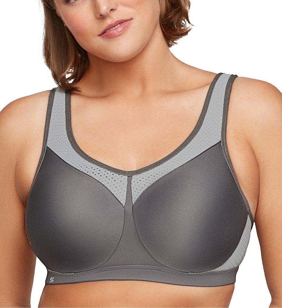 Glamorise 9066 Underwire High Impact Sports Bra (Grey)