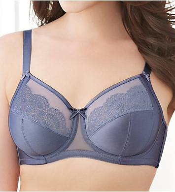 Glamorise Satin and Lace Wonderwire Bra