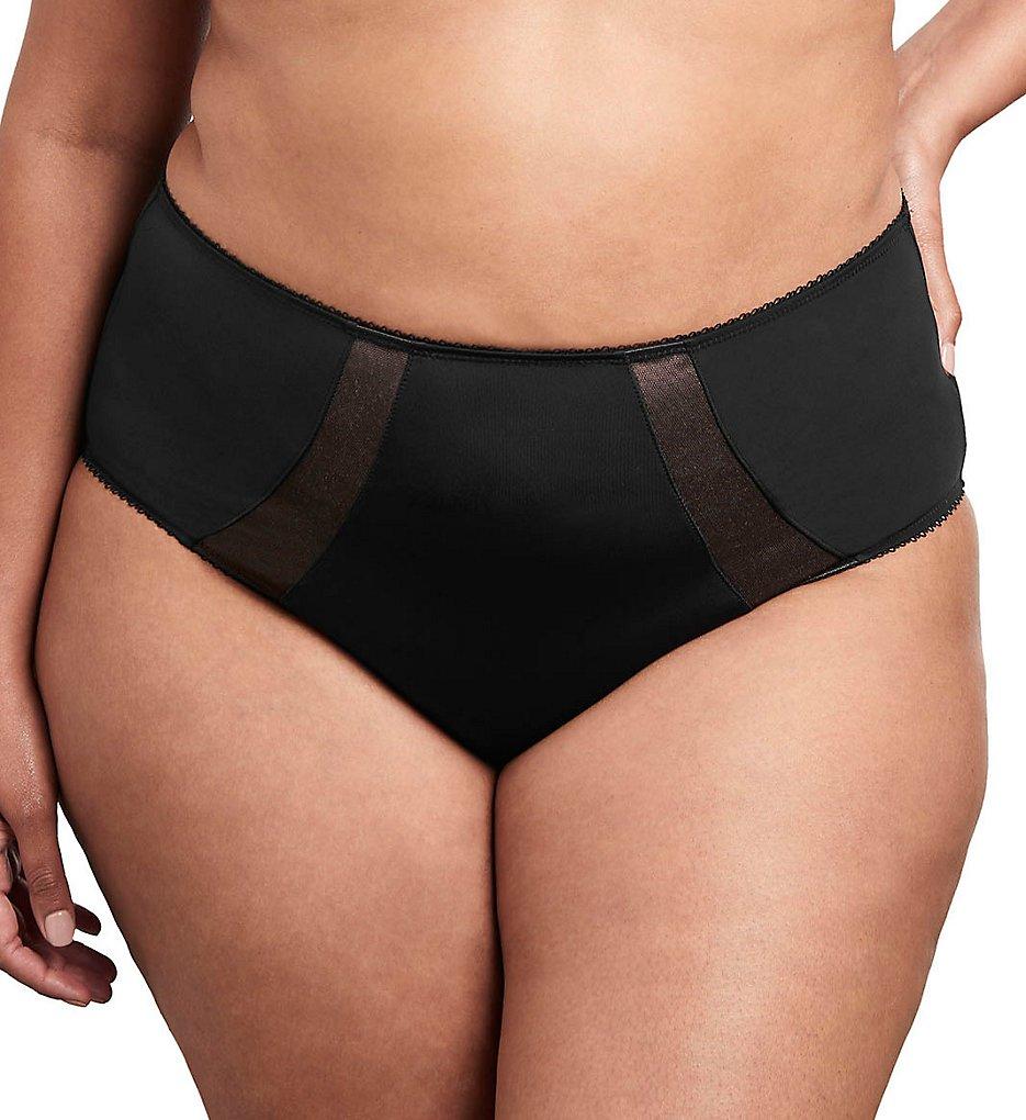 Goddess - Goddess GD6025 Sarah Full Coverage Brief Panty (Black 2X)